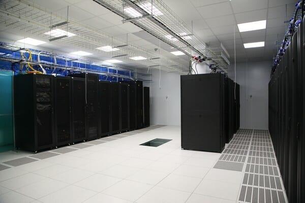 Один из машинных залов дата-центре